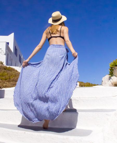 DIY Maxi Wrap Skirt